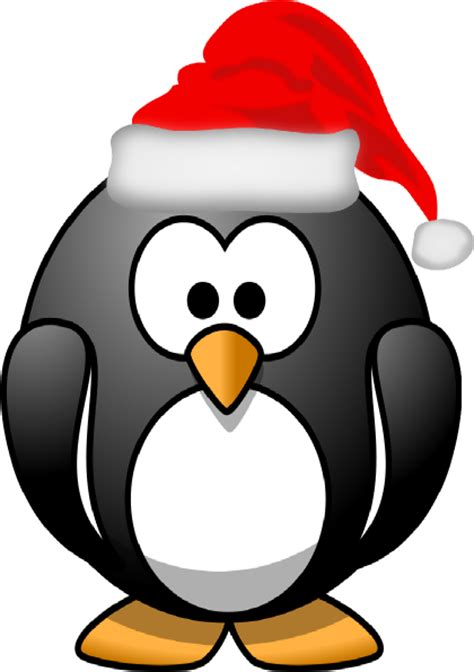 christmas penguin clip art at clker com vector clip art