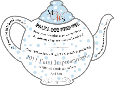 high tea invitation template free printable afternoon tea invitations