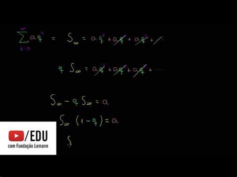 raciocínio sobre a fórmula das séries geométricas