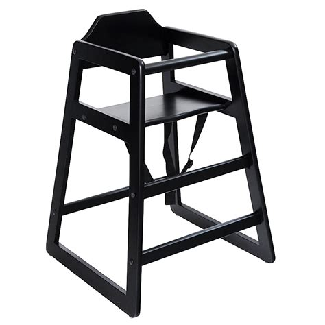 Black High Chair by Wooden High Chair Black 163 24 99 Oypla