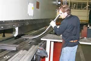 Press Operator by Big Bending Lead To High Tonnage Press Brake The Fabricator
