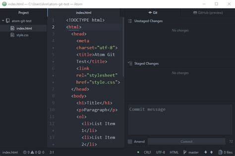 git tutorial create new branch managing git and github projects with atom guide hongkiat