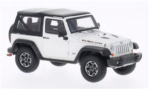 Greenlight Jeep Rubicon 1 43 Kustom jeep wrangler miniature rubicon 10th anniversary blanche 2013 greenlight 1 43 voiture