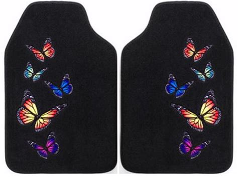 Butterfly Car Mats by Butterfly Front Floor Mats 2 From Car Decor Products