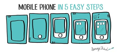 how to a mobile phone how to draw a mobile phone in 5 easy steps imagethink