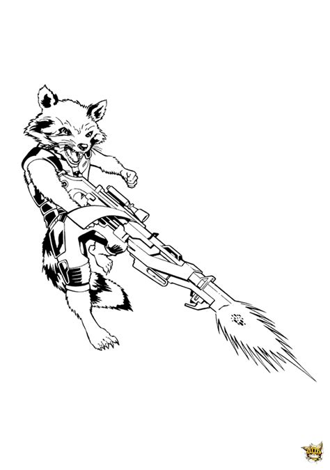 dessins de coloriage les gardiens de la galaxie  imprimer