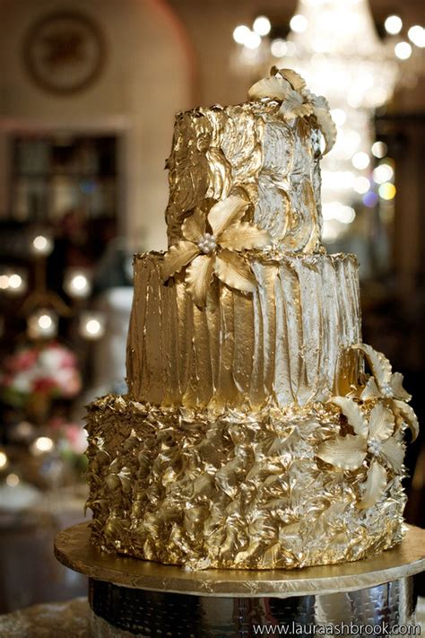 Golden Wedding Cakes by Gold Wedding Cakes The Magazine