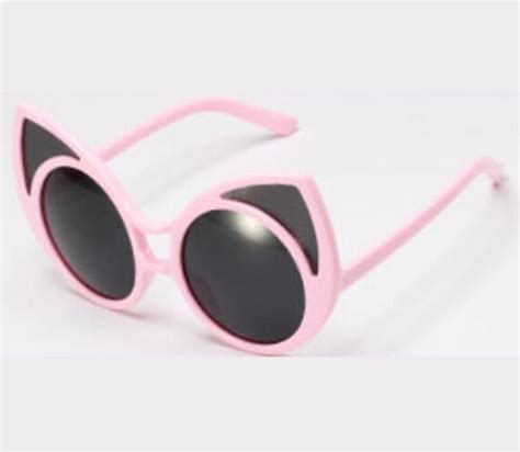 Cat Ear Sunglasses cat ears pastel grunge and pastel on