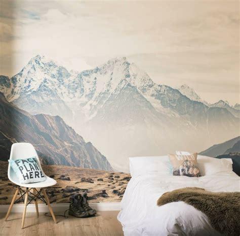 wanddeko berge kinderzimmer attraktive wanddeko ideen mit naturmotiven