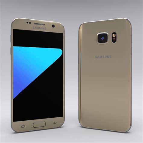 Hp Samsung S7 Gold samsung galaxy s7 gold 3d model obj fbx stl blend dae mtl cgtrader