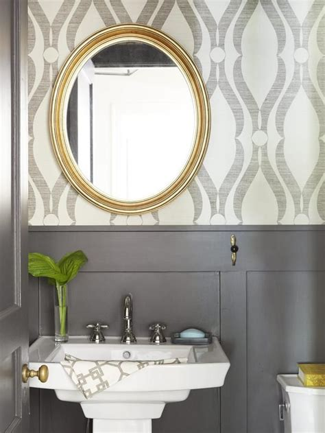 small bathroom color ideas 2017 grasscloth wallpaper how to add pattern to your home powder small rooms and