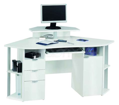 corner computer desk with drawers elegant white corner computer desk with shelves of