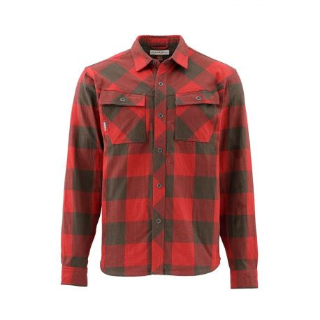 Flanel Size L flannel simms heavy weight plaid size l