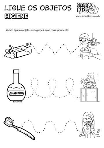 Atividade Higiene Ligue os Objetos - Atividades - Smartkids