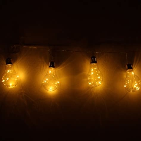 Solar Light Bulb Warm White Fairy Lights Warm Solar Lights