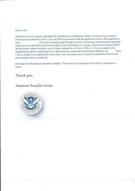 i 131 cover letter i131 application letter