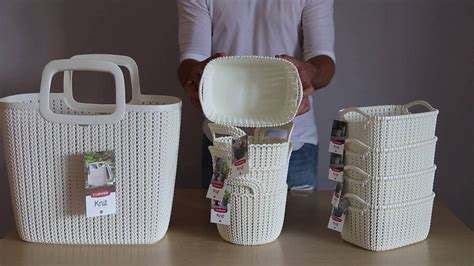 Curver Knit by Okrągły Koszyk Curver Kolekcja Knit