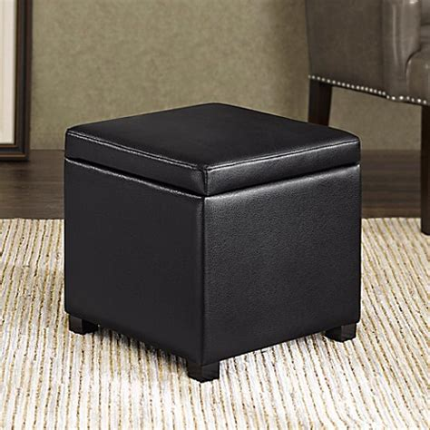 Cube Storage Ottoman Regency Heights 174 Maddox Small Cube Storage Ottoman In Black Bed Bath Beyond