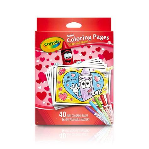 amazon com crayola valentine s day mini coloring pages