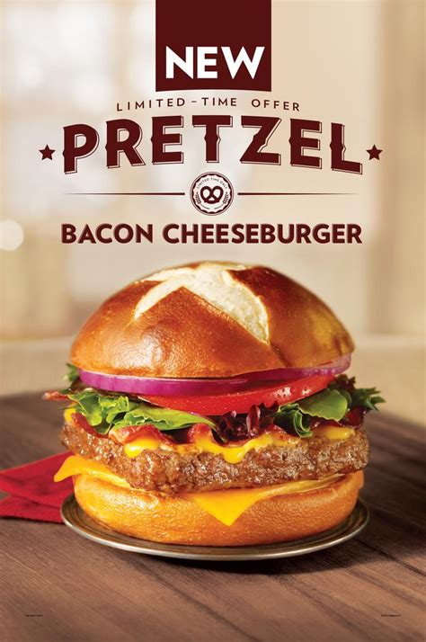 Garden Of Burger Columbus Wendy S Pretzel Bacon Cheeseburger Rolling Out Nationwide