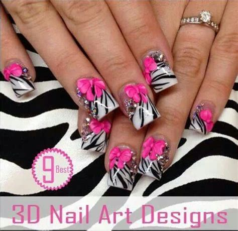 Pink Zebra Acrylic Nail Designs
