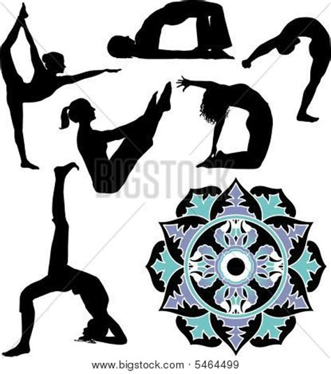 layout position in gymnastics picture or photo of an assortment of yoga exercises and