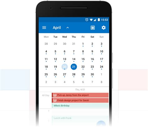 Calendrier Iphone Introducing The Wunderlist Calendar App For Outlook On