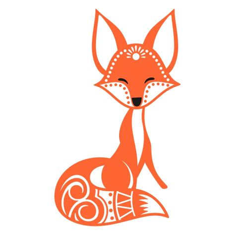 cute fox silhouette