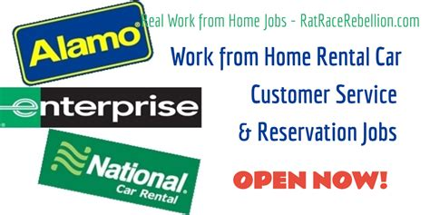work from home with alamo enterprise and national