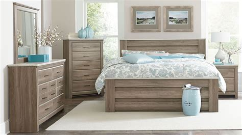 stonehill weathered oak poster mansion bedroom set from