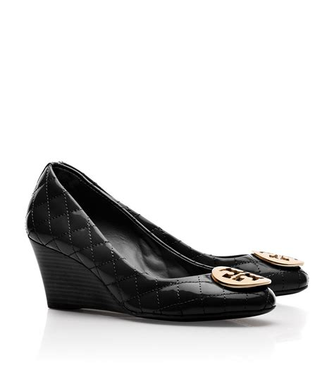 Burch Quilted Wedge by Burch Quinn Quilted Leather Wedge In Black Lyst