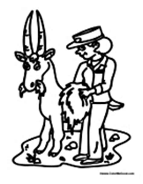 coloring page of a zookeeper zookeeper coloring page