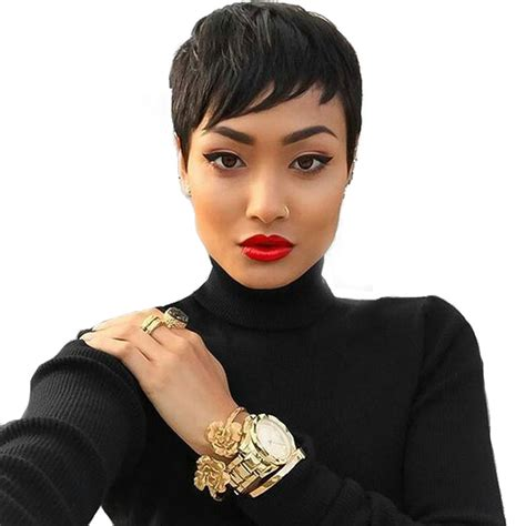 affordable short spike wigs for black women short black pixie wigs for black women cheap hair wigs for