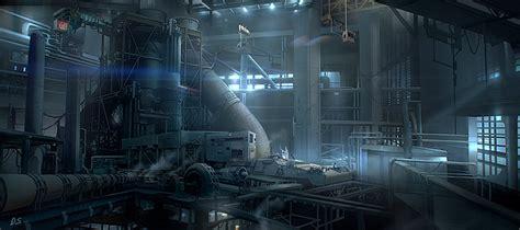 Gamis Amima Giza Black artstation environment concept industrial building