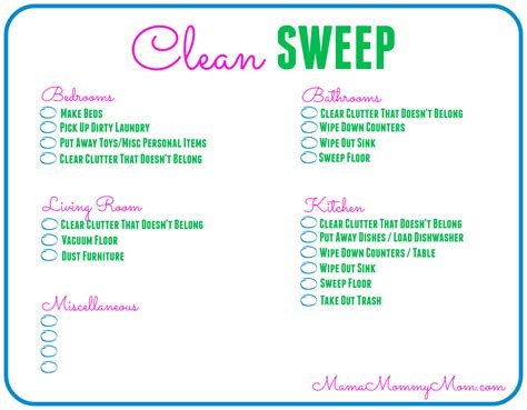 cleaning checklist printable free daily cleaning checklist printable