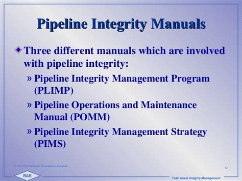 2 Fdr Rae Int Training 2015 Pipeline Integrity Copy Pipeline Integrity Management Plan Template