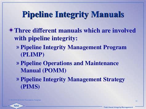 2 Fdr Rae Int Training 2015 Pipeline Integrity Copy Mechanical Integrity Program Template