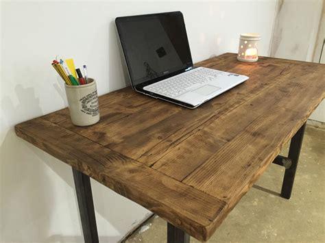 reclaimed wood desk diy pc table computer desk writing desk reclaimed wood industrial chic rustic table ebay