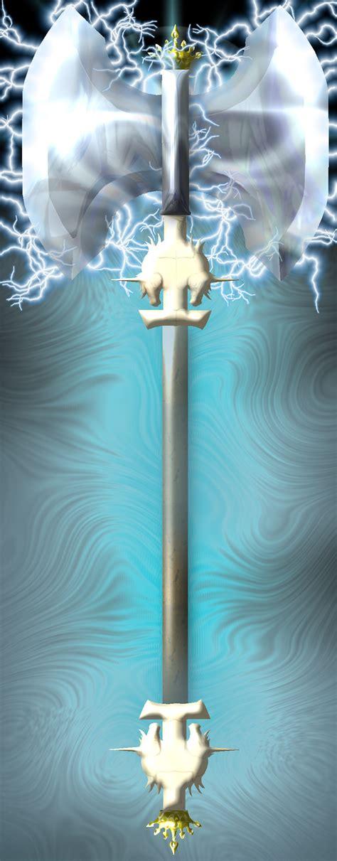 Lightning axe by C K  on DeviantArt