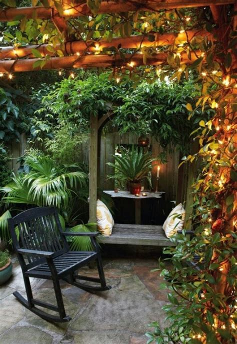 backyard fairy lights pergola with fairy lights a small garden pinterest