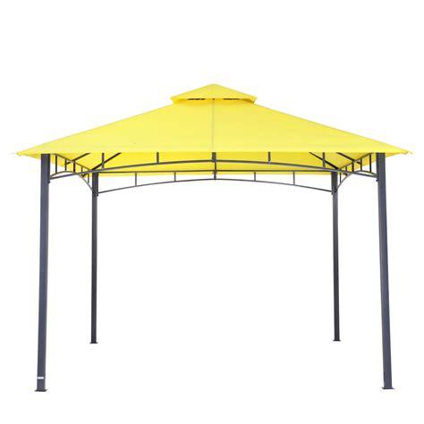 3x3 pavillon wasserdicht tepro garten pavillon 3x3 m wasserdicht waya gelb