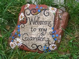 Painted Garden Rocks Inkspired Musings