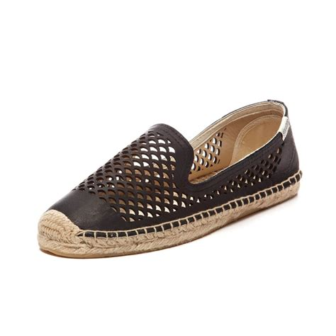 smoker slippers soludos perforated leather slipper in black