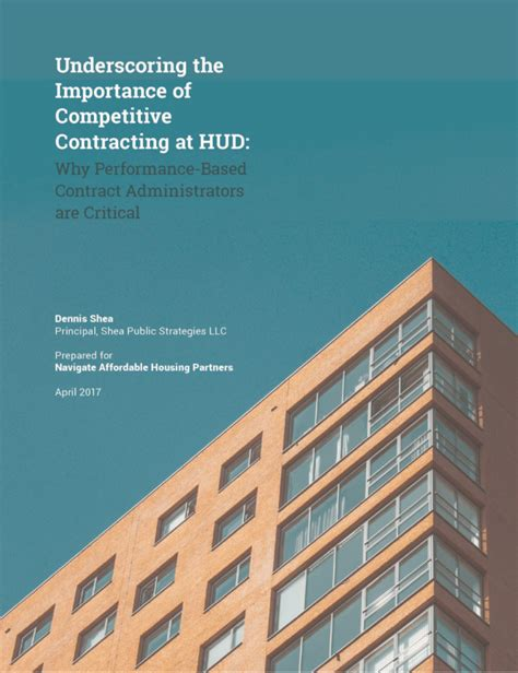 dc section 8 application report competitive contracting at hud critical to