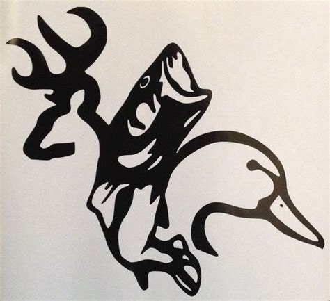 vinyl tattoo browning buck bass and duck vinyl decal sticker