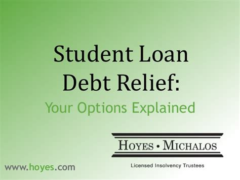 Student Finance Letter Explained canadian government programs for debt relief todayrvun