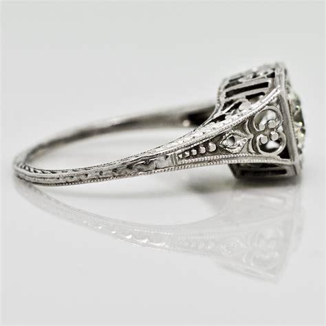 vintage diamond filigree ring claude morady estate jewelry