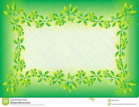 Green Leaf Frame Stock Vector   Image: 40858409