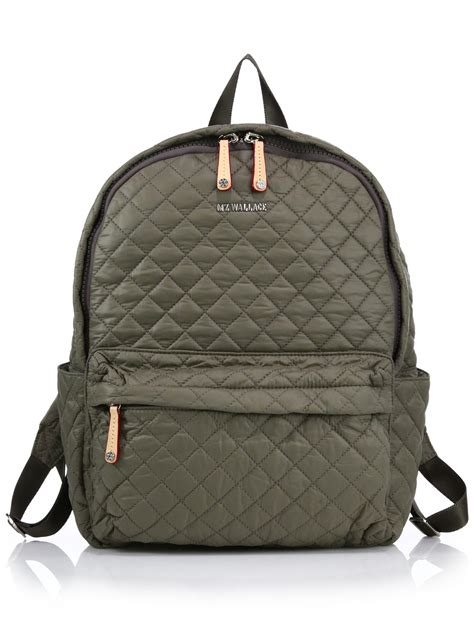 Quilted Backpacks For by Mz Wallace Metro Quilted Backpack In Green Lyst