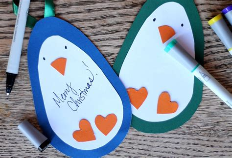 Homemade Christmas Gift Ideas diy ornaments amp penguin gift tags crafts unleashed